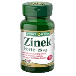 Natures Bounty Zinek FORTE 25mg tbl.100